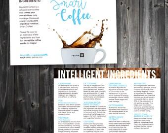 5x7 Ingredients POSTCARD \\ REVITAL U Coffee  \\ personalized \\ Thick 16pt Luxury Matte paper