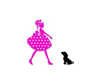 Fillette et son chien