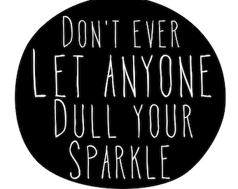 Sparkle wall decor, motivational poster, wall art prints, quote posters, minimalist, black and white, doodle font, handwritten