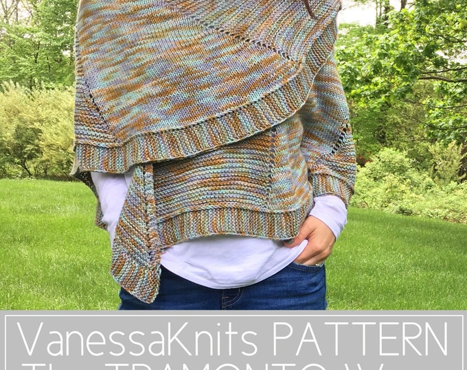 Featured listing image: KNITTING PATTERN - The TRAMONTO Wrap // Easy Summer Knit // BettaKnit Collaboration Project