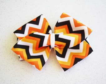 Chevron Fall Hair Bow