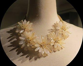 Reserved  Flower Cluster  Vintage Necklace # 041