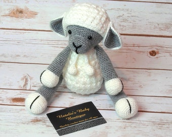 Lamb stuffed animal sheep stuffed animal sheep lovey lamb lovey baby toy Medium/Large sized
