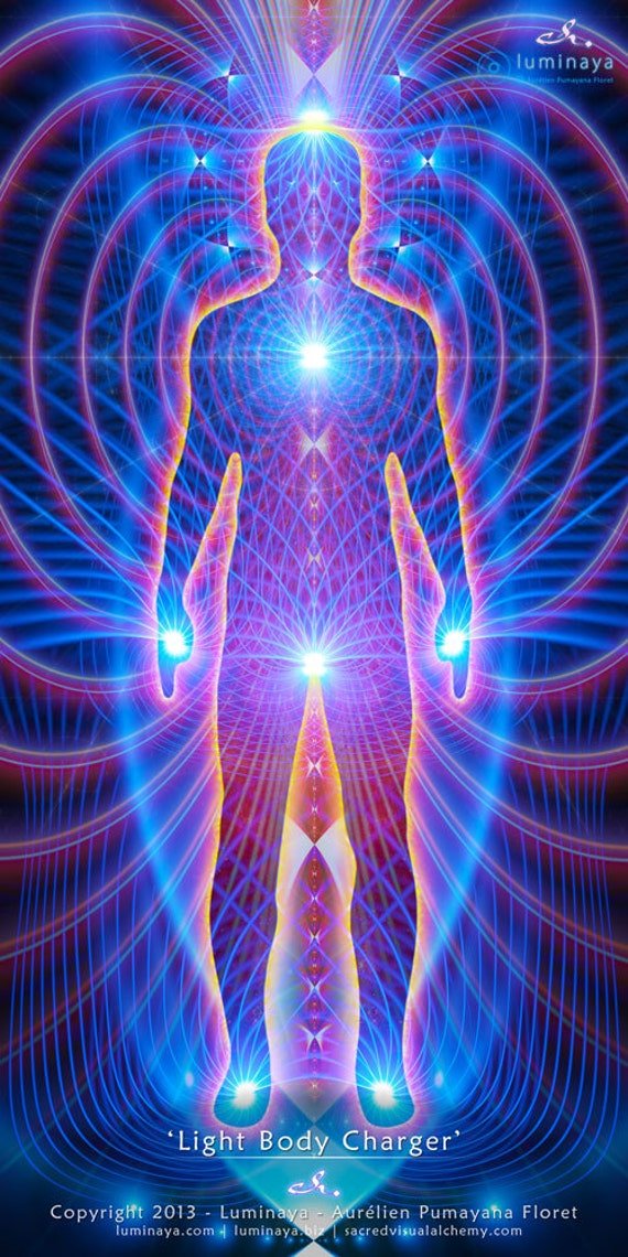 Light Body Charger Sacred Geometry Visionary Art Tapestry