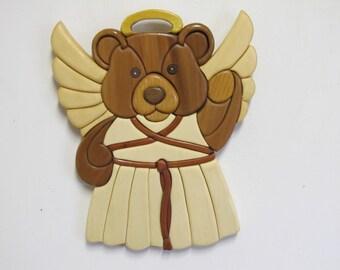 Intarsia Angel Bear