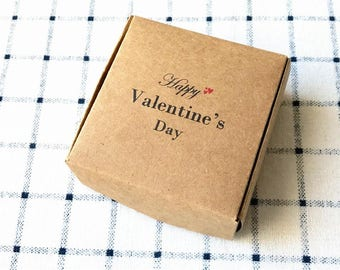 40x Natural Kraft Paper Boxes • Happy Valentine's Day Gift Box • Product Packing Box • Can be personalised or customed for business logo