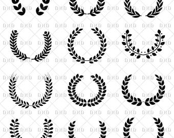 Laurel Collection, Digital Download, Nature Branch, Vector Commercial Use