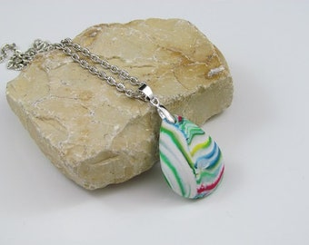 Colorful pendant in drop shape
