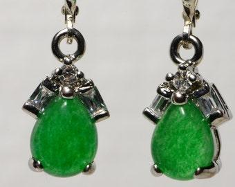 Jade Earrings Sterling Silver Jade Earrings Sterling Silver Jewelry Jade Jewelry