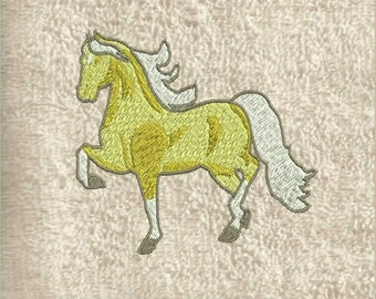 Horse Hand Towel, hand towels, decorative towels, custom towels, bath towel, embroidered towel, personalized towel, kitchen towels,