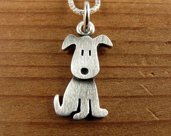 Tiny puppy necklace / pendant