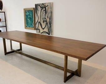 Mid-century Modern Dining Table | Walnut Soirée Table