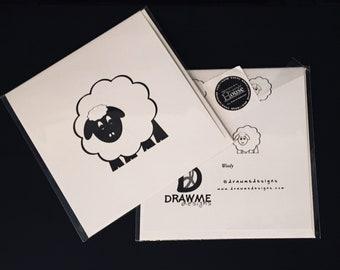 Sheep Greeting Card by DrawMe Designs