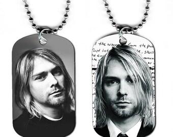 DOG TAG NECKLACE - Kurt Cobain #1 Nirvana Rock Grunge Music