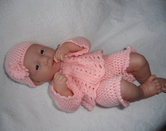 Crochet pattern for Berenguer 14 inch la newborn baby doll