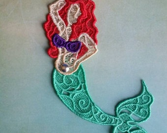 Freestanding Lace Mermaid, Ariel Custom Colors Available