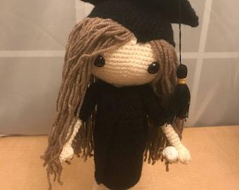 Graduation Amigurumi Doll