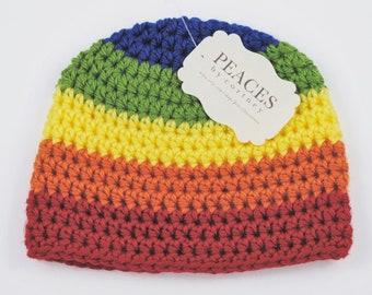 Newborn Rainbow Baby Hat