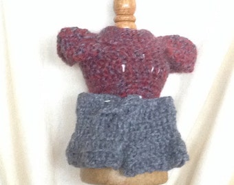 Handmade Crocheted Doll Top & Pantd