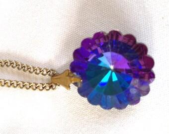 Purple Heliotrope Margarita Necklace Vintage Jewelry