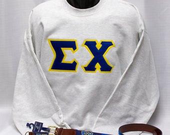 Sigma Chi Block Letter Applique Sweatshirt