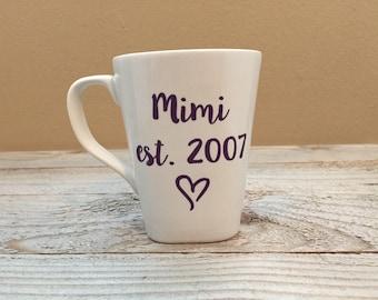 Mother's Day Gift, Birthday Day Gift, Grandparents Day, Grandma Gifts, Mimi Gift, New Grandparents, Coffee Mug, Christmas Gift, Gift for her