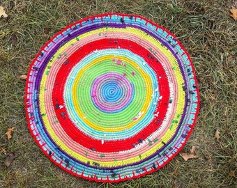 All The Colors Woven Rag Rug
