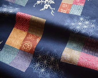 Great cotton Japanese fabric traditional dobby Boro style 145 * 50 cm
