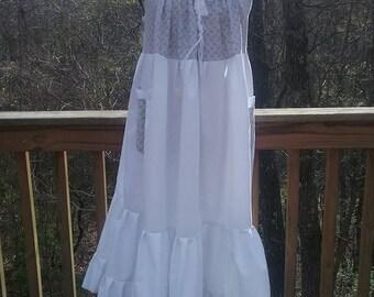 Bohemian Gypsy Sundress, Hippie Summer Festival Dress, Plus Size Maternity Dress, Boho Maxi Beach Dress, Handmade Patchwork Eco Clothing