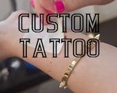 A Custom Order custom tattoo design, custom tattoo order, customized tattoos, personalized tattoos, KMD, approved design