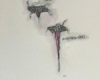 Black holes watercolor / drawing