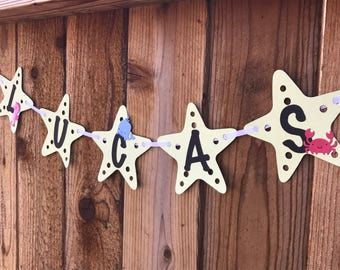 Sea Creatures Birthday - Name Banner