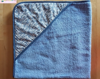 Hooded towel blue and Liberty