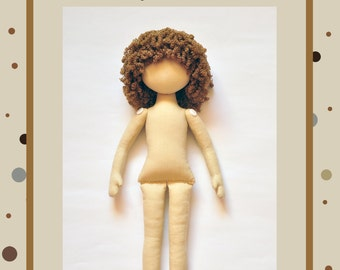 PDF, Anna Doll, Cloth Doll Pattern,PDF Sewing Tutorial,Soft Doll Pattern