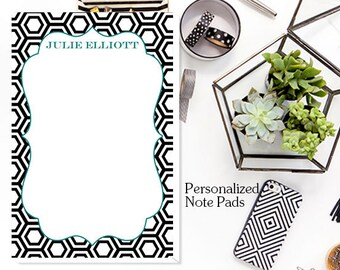 Custom Notepad, Note Pads, Personalized Note Pads, Hexagon Personalized Notepad -  Custom Note Pads, Monogrammed Note Pads,