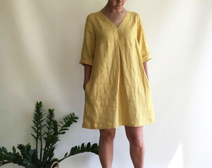 Linen Tunic, Plus size tunic, Linen Dress for Women, Linen Tunic Dress, Womens tunic, loose linen tunics, plus size clothing, tunic tops