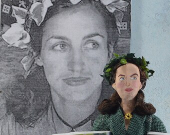 Francoise Gilot Artist Author Writer Doll Miniature French Painter