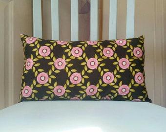 "The ""Wallflower"" rectangular pillow; Decorative Pillow; Lumbar Pillow; Retro Pillow; Mid Century Pillow; Unique Decor"