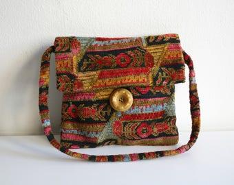 Bohemian Textile Rayon Carpet Bag
