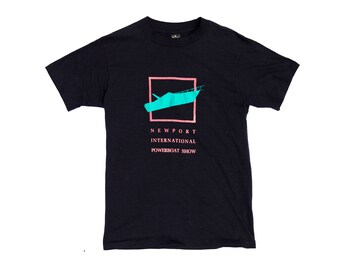 Vintage 80s Newport Rhode Island Powerboat Show T Shirt