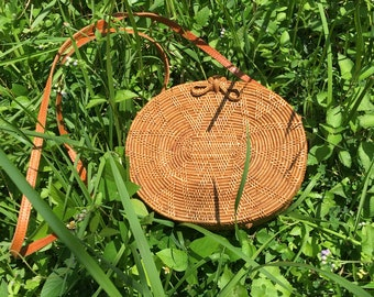 Oval Rattan Woven Bag, Rattan Bag, Bali Bag, Oval bag, Straw Bag, Summer Bag