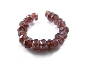Tiny Garnet Beads, Coated Mystic Garnet Rondelles, 2mm - 3mm Faceted Gemstones, 20 count, Jewelry Supplies (L-Ga10)