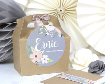 Personalised Childrens Wedding Activity Box & Puzzle Pack Favour   GARDEN ROSE    A6 Polka Dot Bold Book with Pen