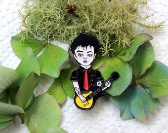 Green day Billie Joe Armstrong enamel pin