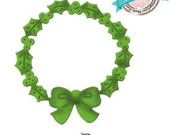 """Die cut metal matrix Crown knot Cottage Cutz """"Wreath"""""""