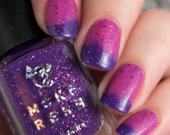Luminescent Roses - Colour Change Thermal Nail Polish PINK/PURPLE