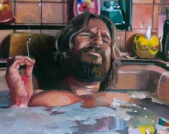 The Big Lebowki Bathtub 4/20 Friendly Art Prints