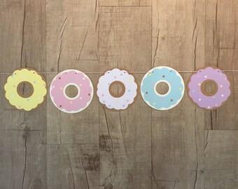 Guirlande de Donut pastel