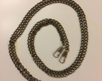 Handbag Chain, Cross Body Bag Chain, Shoulder Bag Chain, Replacement Handbag Chain, Antique Bronze Bag Chain, 120cm Bag Chain