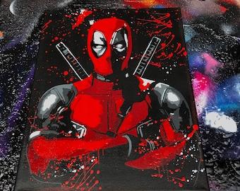 Deadpool. Spray Paint Art.
